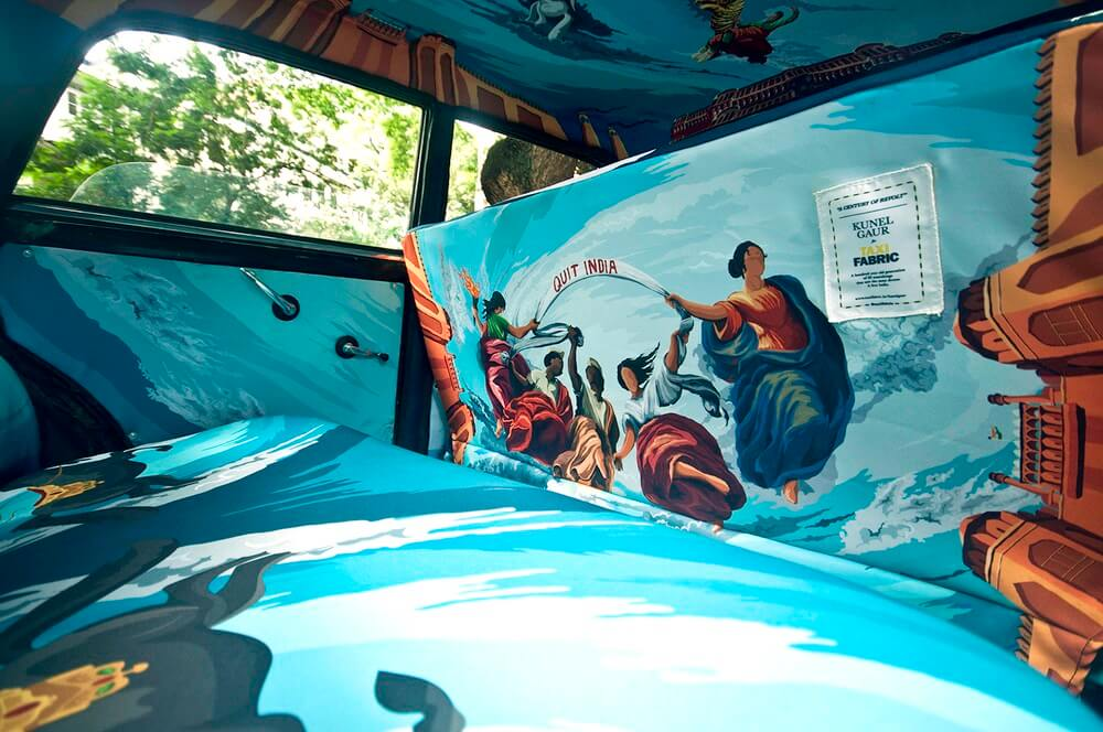 Taxi, Inde, décoration