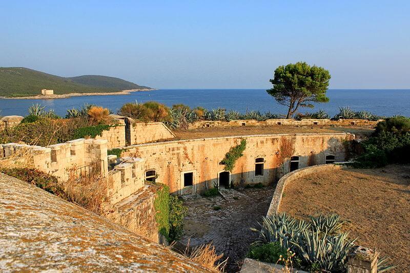 Fort Mamula, île Lastavica, Monténégro