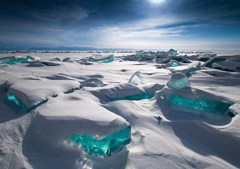 Lac Baikal, glace, Russie