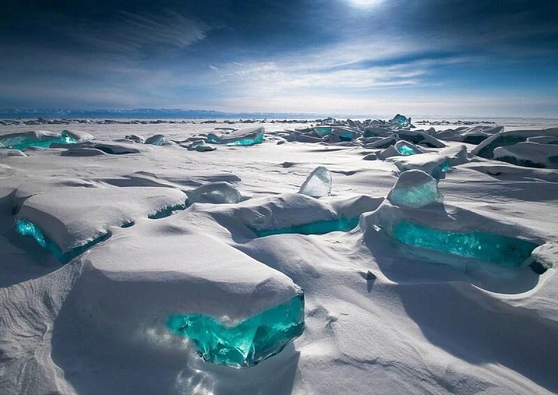 Lac Baikal, glace, Russie