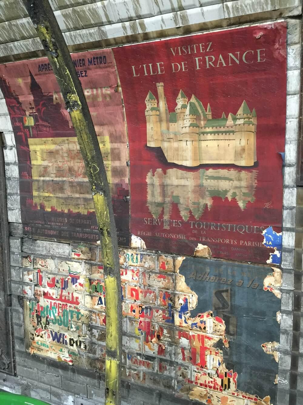 Paris, belle, affiche, temps, metro