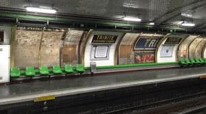 Paris, metro, affiche, rénovation