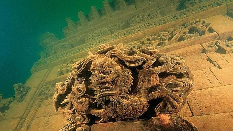 Shi Cheng, cité des lions, ville engloutie, Chine
