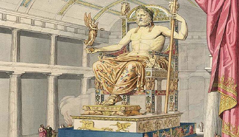 Statue, Dieu Zeus, Olympie