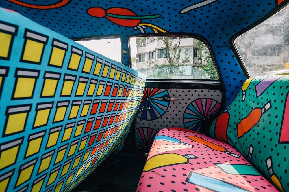 Taxi, Inde, décoration, multicolore