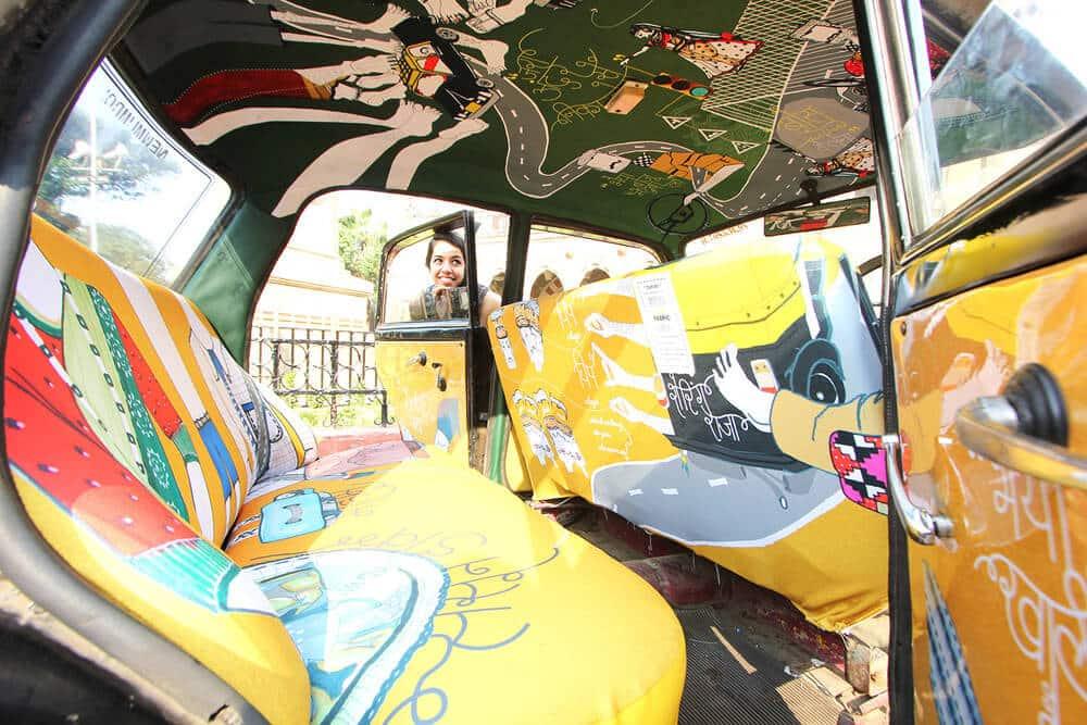 Taxi, Inde, décoration, soleil