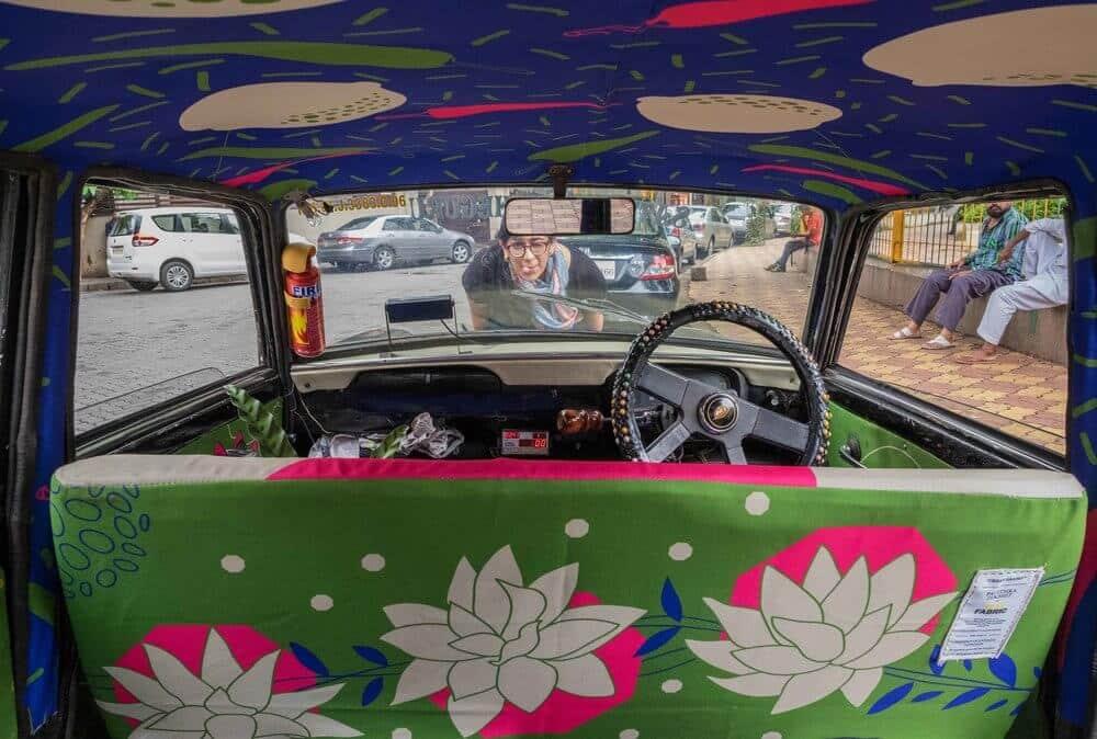 Taxi, jardin, Inde