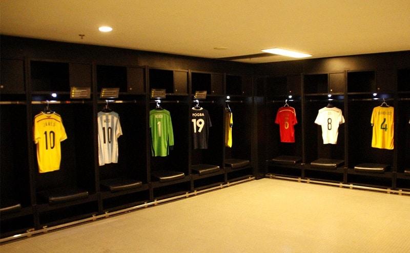 Vestiaire du Stade Maracana à Rio