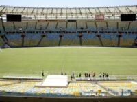 Intérieur du stade Maracana à Rio