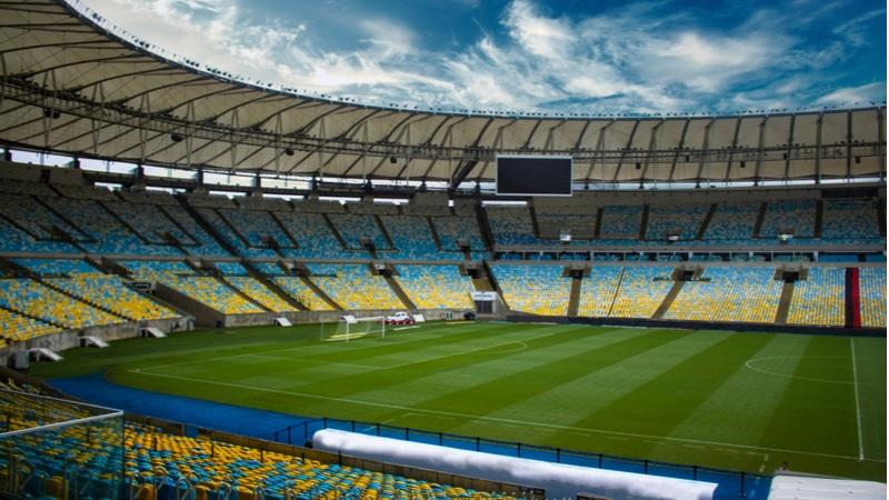 Gradins du stade Maracanã à Rio