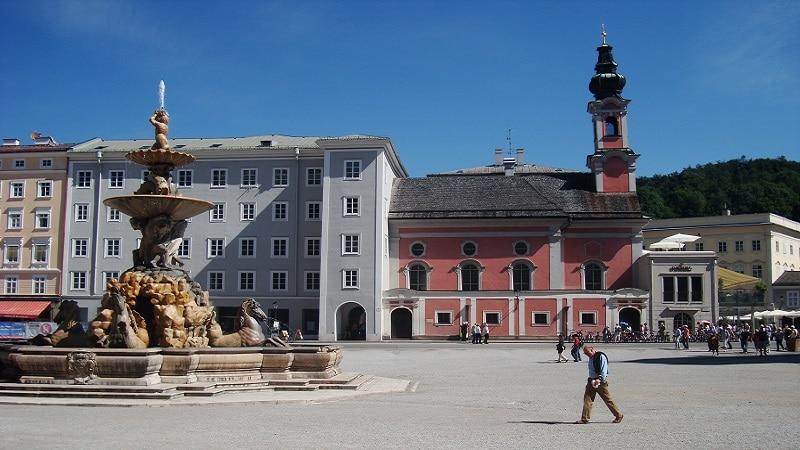 La Résidence, Salzburg, Fontaine