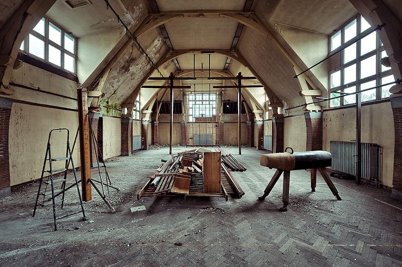 Salle de gym, Urbex