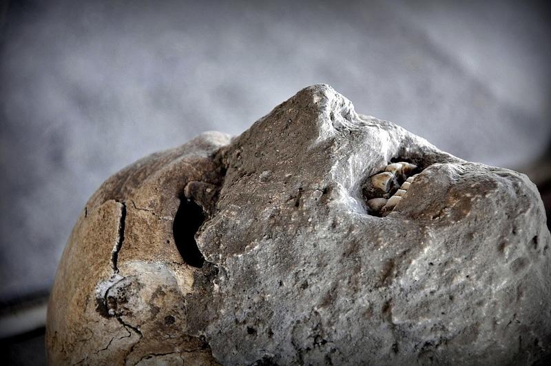 Moulage d'un corps à Pompéi