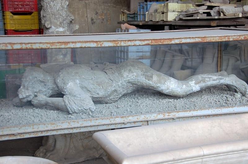 Moulage femme enceinte, Pompéi