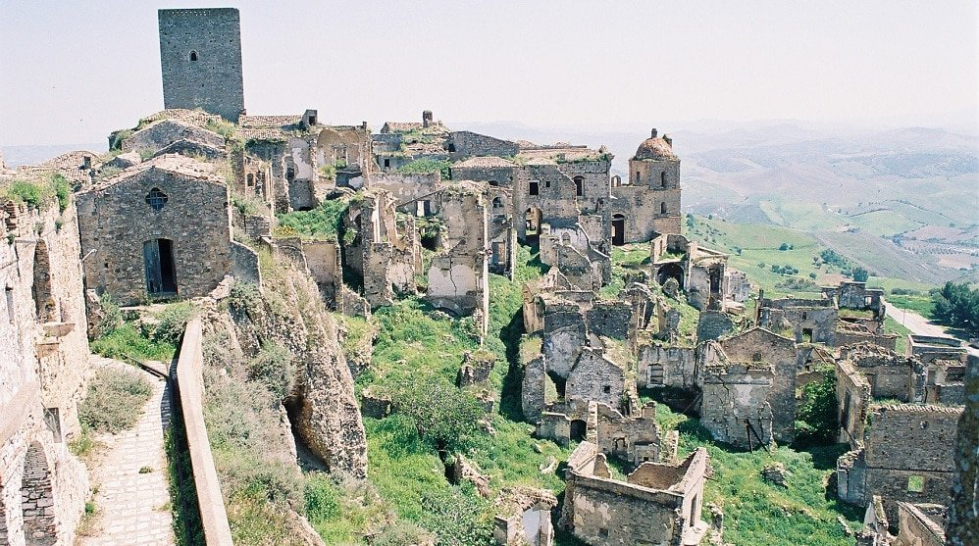 Craco, village abandonné en Italie