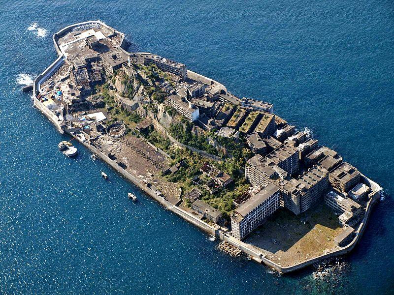 Île de Hashima au Japon