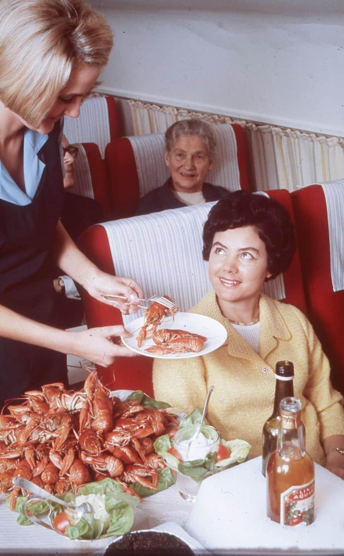 Repas en avion à bord de la Scandinavian Airlines
