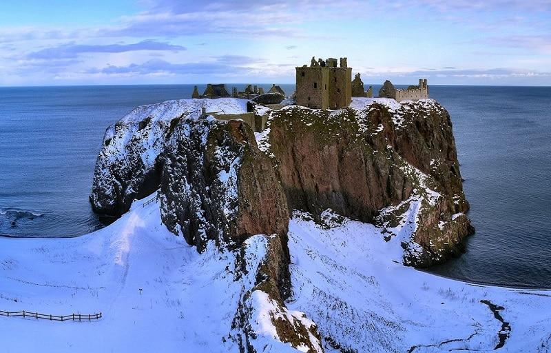 Château de Dunnottar sous la neige