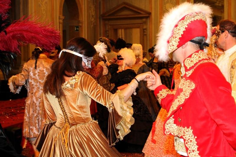 Dîner costumé, Carnaval de Venise, hôtel Danieli