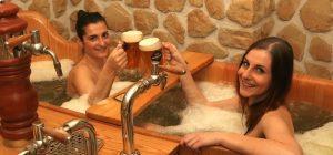 Bain de bière à Prague au Beer Spa