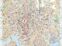 Carte détaillée de Cracovie