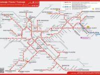 Carte des lignes de tram de Cracovie