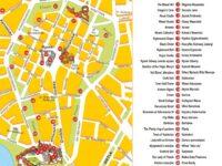 Carte des sites d'intérêt du vieux centre de Cracovie