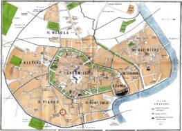 Cartes et plans de Cracovie