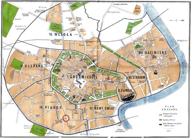 Cartes et plans détaillés de Cracovie