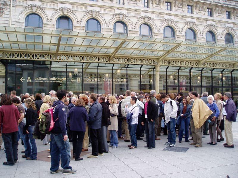 Queue au Musée d'Orsay
