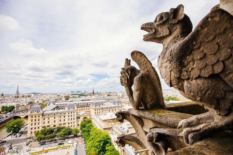Gargouilles sur la Cathédrale Notre-Dame de Paris