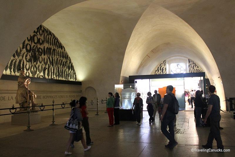 Intérieur du musée de l'Arc de Triomphe