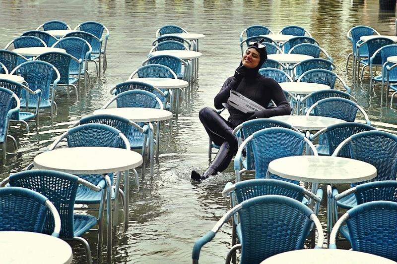 Marée Venise, terrasse