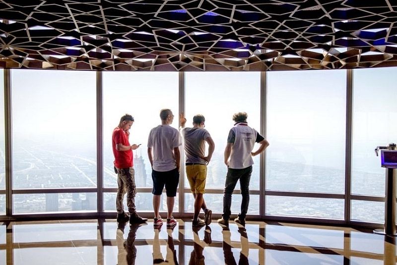 Pont d'observation de la tour Burj Khalifa