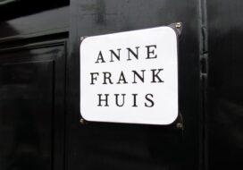 Panneau de la maison d'Anne Frank