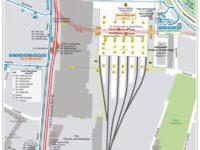 Plan de la gare de Cracovie