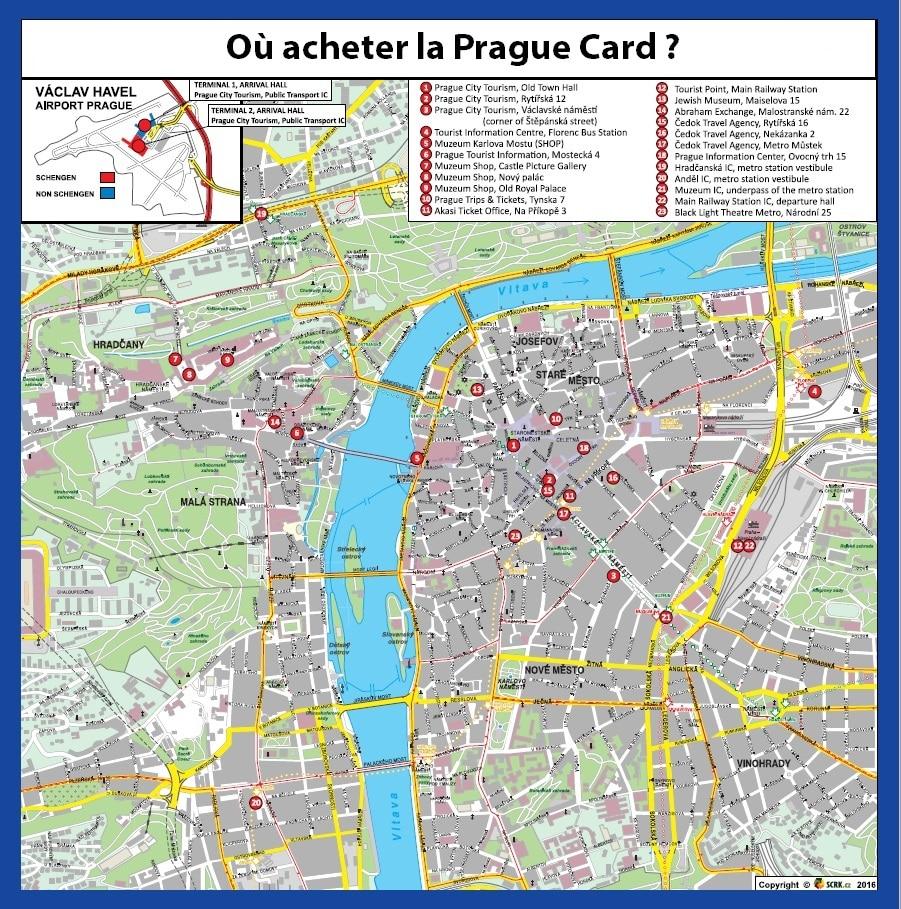 Points de vente Prague Card