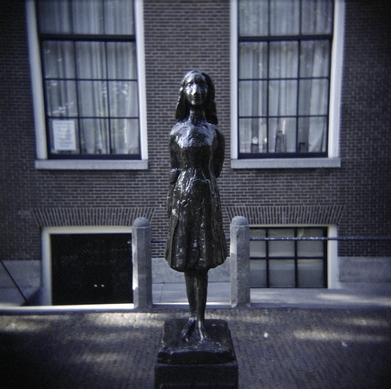 Statue Anne Frank, Amsterdam