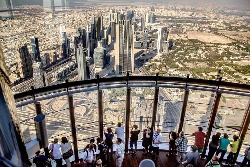 Tour Burj Khalifa depuis le 148ème étage
