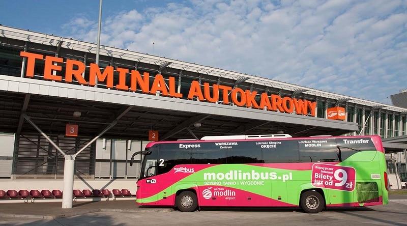 Transfert aéroport Modlin vers Varsovie