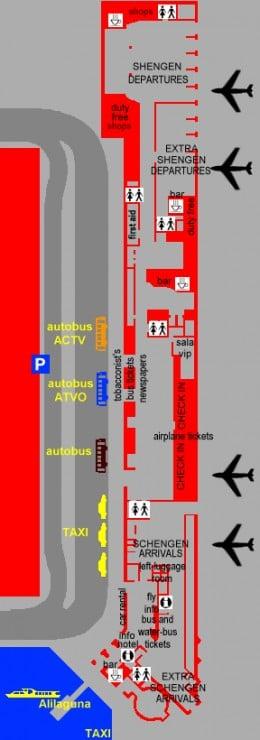 Transports, aéroport Marco Polo de Venise