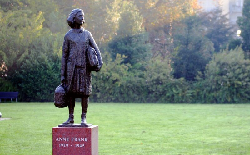Anne Frank statue at Merwedeplein