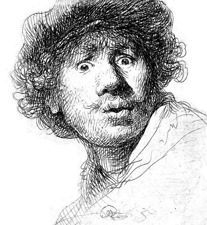 Autoportrait de Rembrandt au Rijksmuseum d'Amsterdam
