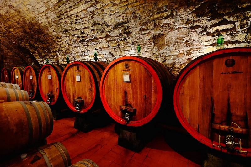 Cave de vin dans le Chianti