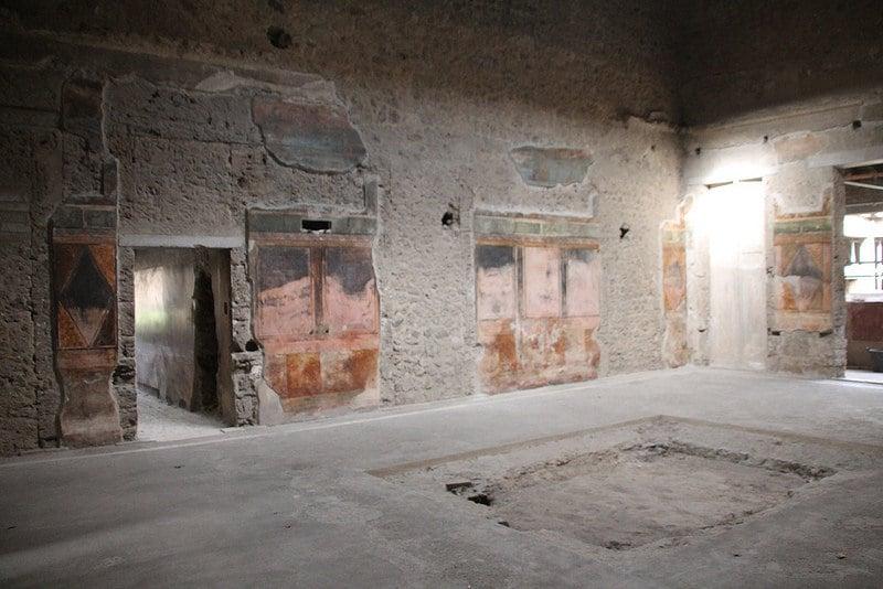 Intérieur d'un bâtiment à Pompéi