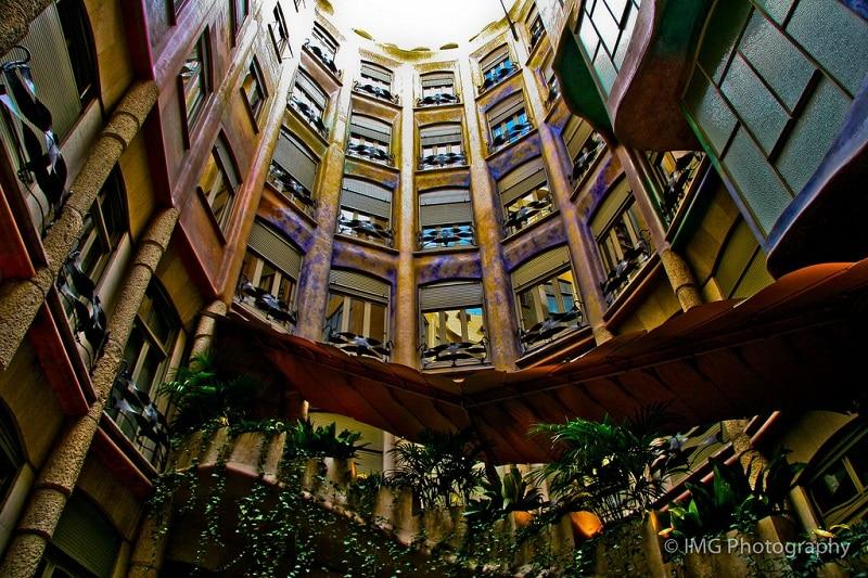 Intérieur de la Casa Mila, Barcelone