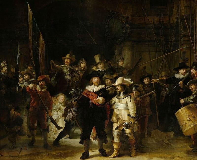 La Ronde de Nuit, de Rembrandt, au Rijksmuseum d'Amsterdam