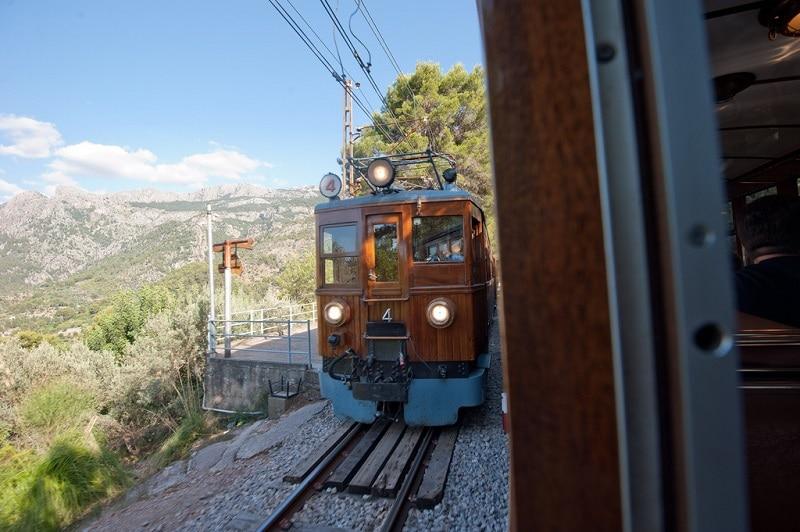 Tren (train) de Sóller à Majorque