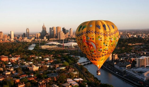 Réservation d'un survol en montgolfière de Melbourne