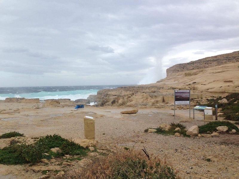 Azure Window effondrée à Malte